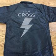team cross jacket back/オリジナルプリント