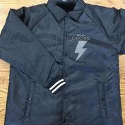 team cross jacket front/オリジナルプリント