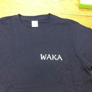 WAKA Tシャツ 胸 オリジナルプリント
