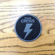 team cross patch/オリジナル刺繍
