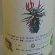 Aloe Ferox Saft - Geschmack: Passionsfrucht in der Glasflasche