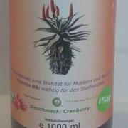 Aloe Ferox Saft - Geschmack: Cranberry in der Glasflasche