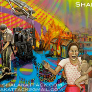 """""""Deshumanidade. Deshumanity"""" By Shalak. Spraypaint and acrylic on canvas.  Sao Paulo. Brazil. 2012.  (Private Collection - Available for exhibition only - Canada )"""