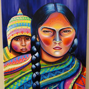 """Mama y Wawa"" by Shalak Attack, Acrylic, 2014, Canada (Commissioned by Private Collector)"