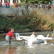 OB Neher im Wasserflugzeug