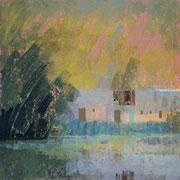 paysage Baracé pastel 30x30