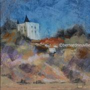 paysage Noirmoutiers pastel 20x20