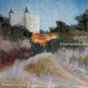 paysage Noirmoutiers pastel 40x50