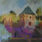 paysage la Chabotterie pastel  40x40