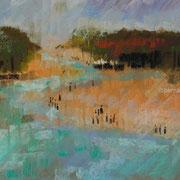 paysage le Payré pastel  30x40