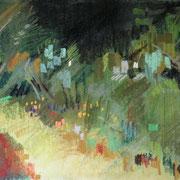jardin Durtal,  pastel 30x40