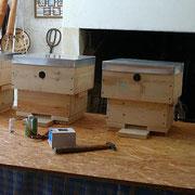 5 ruches Warré autoconstruites