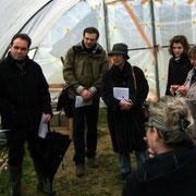 Présentation de l'écohameau et du futur projet La Pépinière aux élus locaux et journalistes