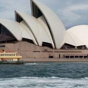 Eines der vielen Wahrzeichen Australiens: Die Oper von Sydney
