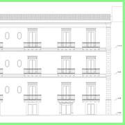 Programma integrato di Caltagirone - Palazzo Conte Gravina - Prospetto via Sturzo
