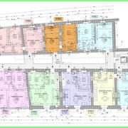 Programma integrato di Caltagirone - Palazzo Conte Gravina - Pianta 2° piano