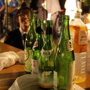 石川県酒造組合連合会より提供された日本酒、某アナウンサーの変顔とともに
