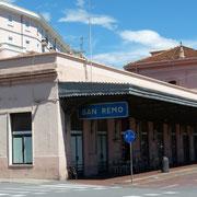der still gelegte Bahnhof von Sanrremo