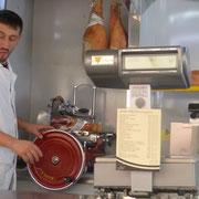 Prosciutto crudo - Parmaschinken, frisch und hauchdünn geschnitten