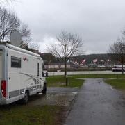 der Campingplatz in Koblenz