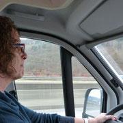 auf der Autobahn nach Wertheim