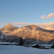 Blick zum Kranzhorn im Winter