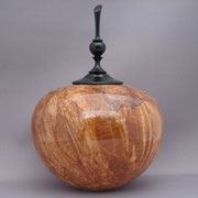 Cremation urn with Ebony lid and finial