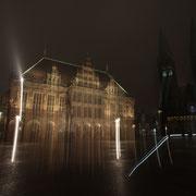 Bremen Rathaus, bulb, Winkel über gekipptes Stativ