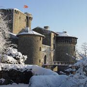 Le château-fort de Tennessus sous la neige