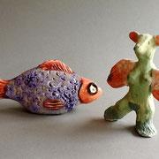 Roter Fisch und Flügelmausi