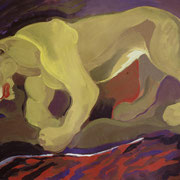 Traurige Löwin, 120 x 90 cm, da. 1985