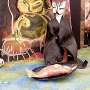 Kröte, Katze und Fischplatte