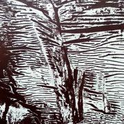 Leimspuren von Wahlplakat-Tafel, 2/14
