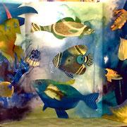 Unterwasserwelt mit grantigem König