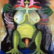 Die Krötenfrau, 35 x 50 cm, ca. 1985