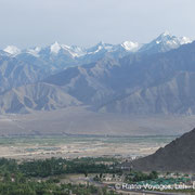 View from Shanti Stupa to Stok Kangri (6120m)