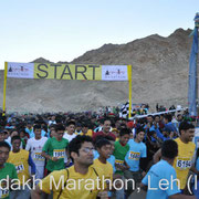 Start of 2nd edition of Ladakh Marathon 2013