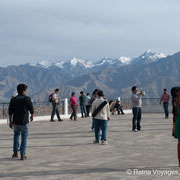 Shanti Stupa square offering stunning views on Leh and surrounding mountain ranges