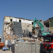 Teileinsturz eines Gebäudes nach Brand - Traunsee 7/2014