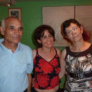 De gauche à droite : João NETO, Altina RIBEIRO et Alice NETO