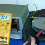 HV-Versuchsaufbau 2014 - Spannung (3,24 kV) mit Schalen
