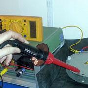 HV-Versuchsaufbau 2014 - Spannung (ca. 3,24 kV)