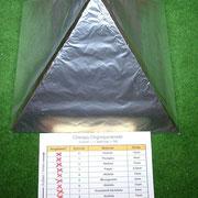 Plexiglaspyramide nächste Schicht - Alufolie  (Schicht8)