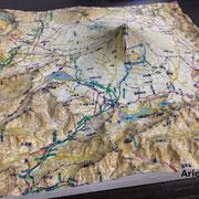 3Dプリンターで展示模型(立体地形)フルカラー対応の立体地図
