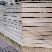 塗装前 汚れを落としたところ〈右側)落とす前(左側)