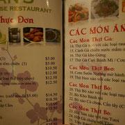 ベトナム語?のメニューもあり。・・・てことは、ベトナム人もよく来るのかな?