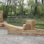 Skulpturale Strukturen - Pfarrzentrum St Franziskus/Wels - partizipatives Projekt