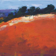 Ulrike Hansen: Rotes Feld, 2017, Eitempera auf Leinwand, 24×30 cm