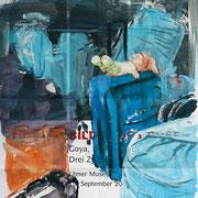 Bilder des Bösen - mit Goya, Dix und Hrdlicka unterwegs, 2016, 60 x 84 cm, Öl auf Plakat