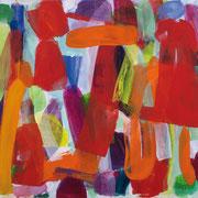 Jürgen Reichert: Tohowabohu, 2017, Acryl auf Leinwand, 140×170 cm